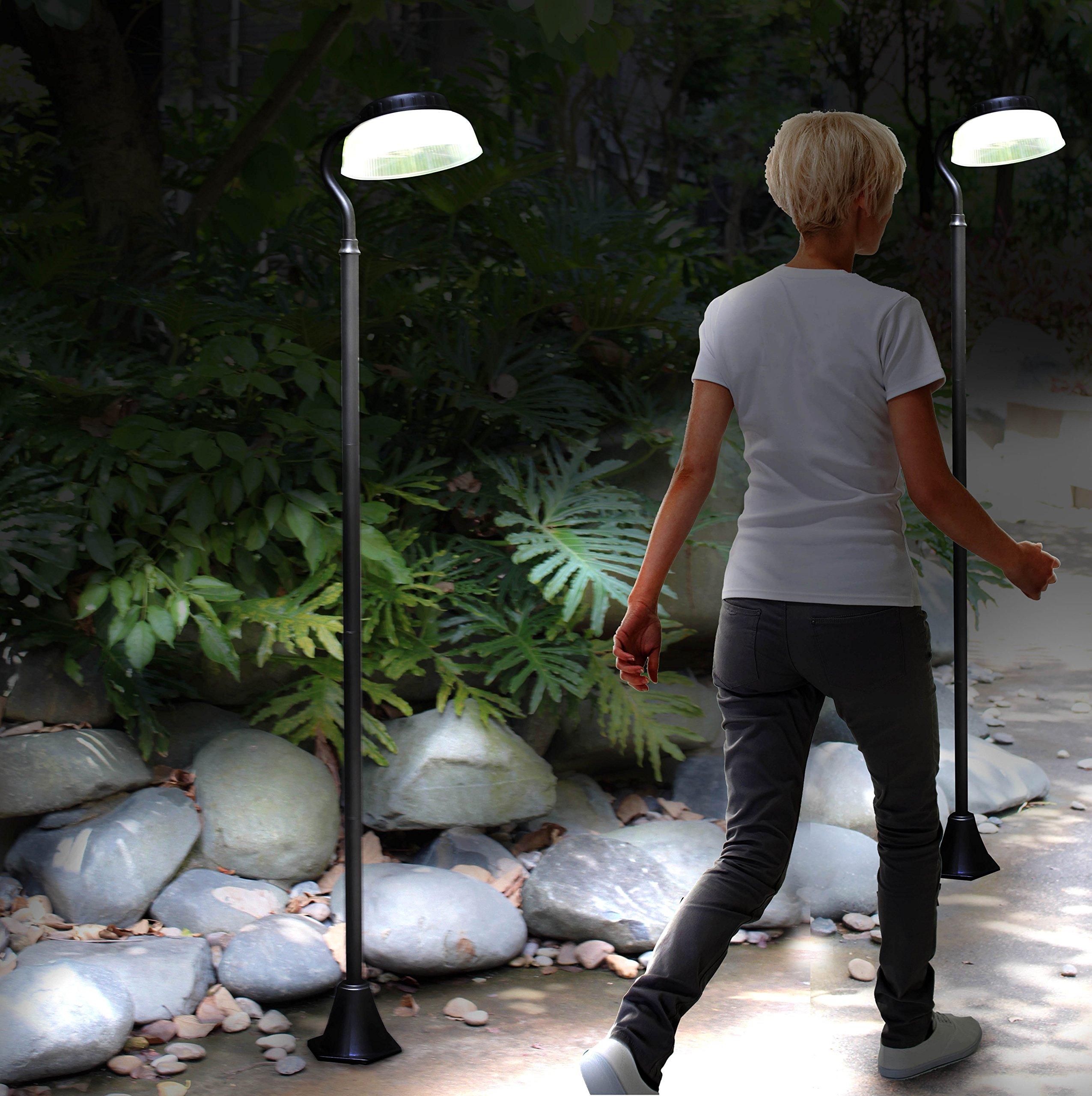 81'' Solar Power 300 Lumen Sensor Street Vintage Lamp Post Light Outdoor Garden