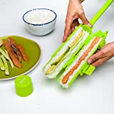 Sushi Maker Roller Machine |Making Kit w/Tube, Locking Clips & Easy Release Plunger- Perfect Rolls Every Time