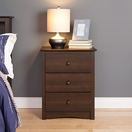 943145bd77f Image Unavailable. Image not available for. Color  Laurel Creek Edward  Espresso 3-drawer Tall Nightstand
