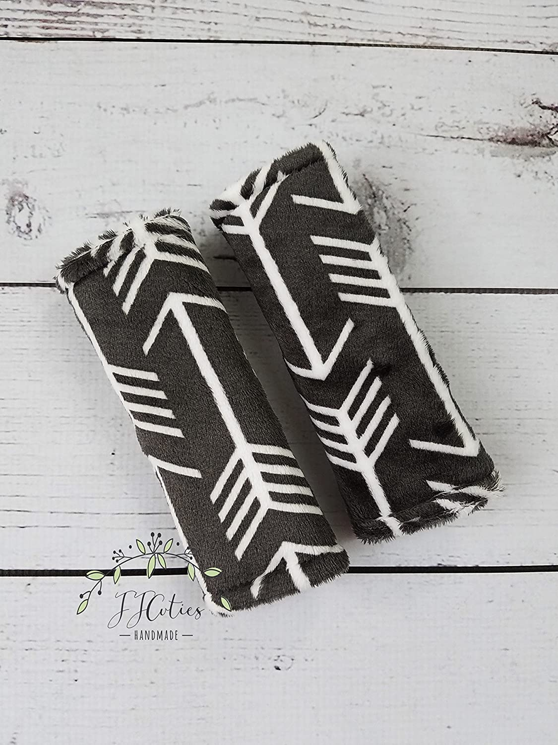 Reversible Arrow Tribal Gray Charcoal Baby Infant Car Seat Strap Cover