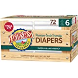Earth's Best Chlorine-Free Diapers, Size 6, 72 Count