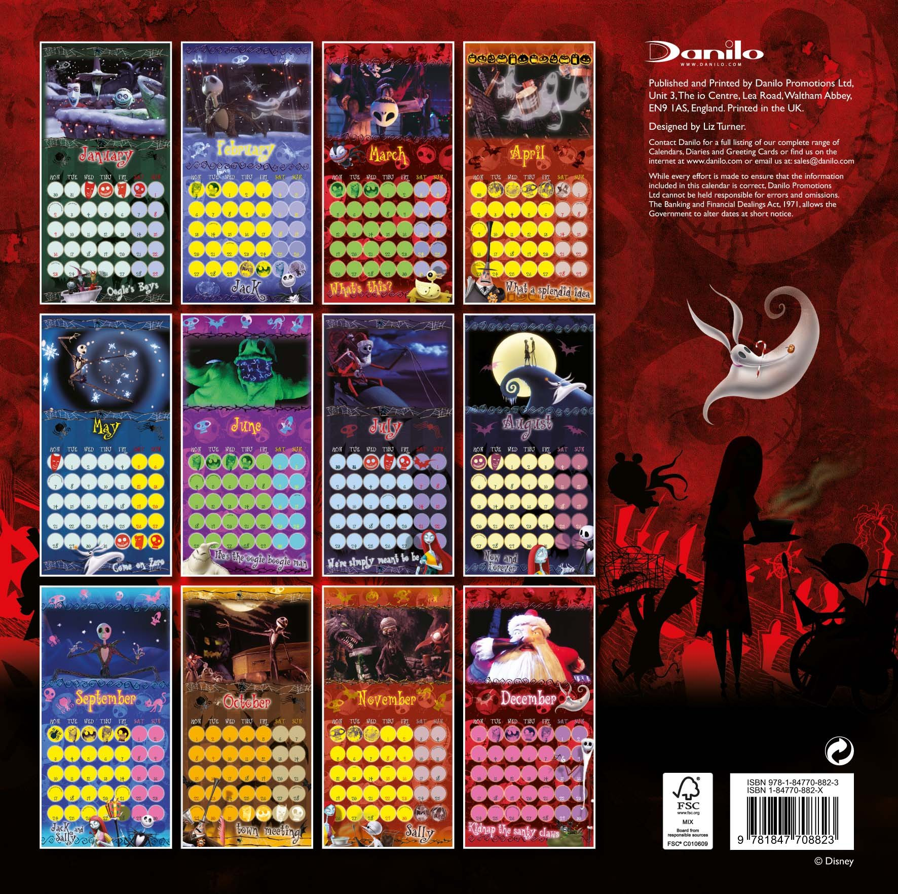 Official Nightmare Before Christmas Calendar 2012: 9781847708823 ...