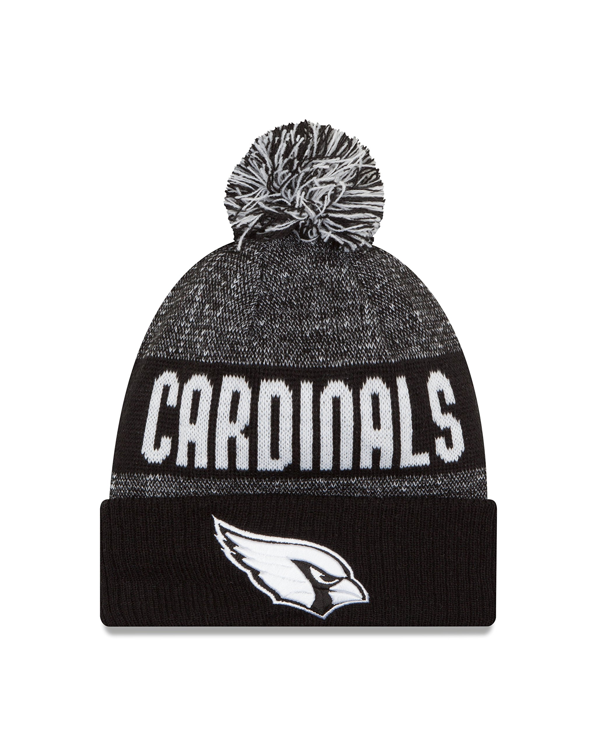 New Era NFL Arizona Cardinals 2016 Sport Knit Beanie, One Size, Black/White