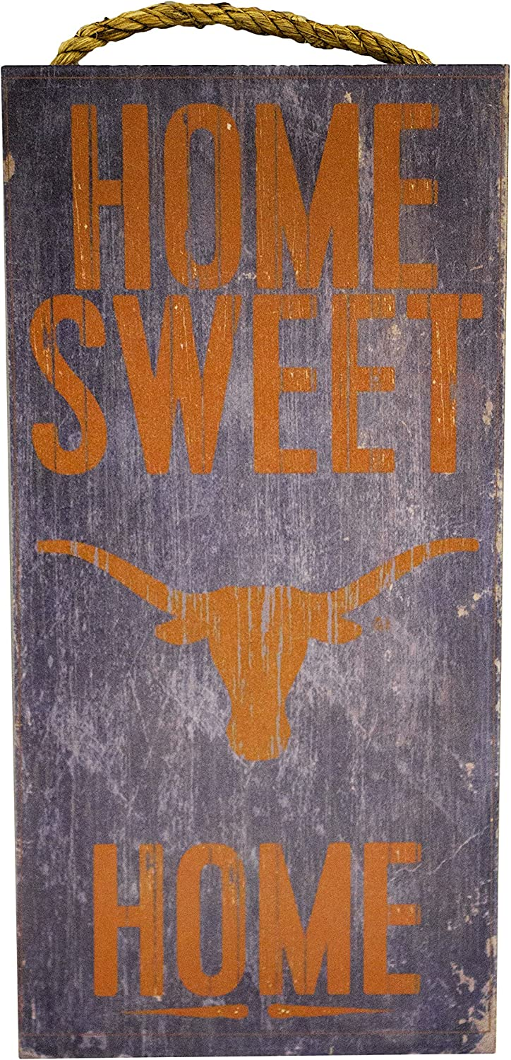 "Fan Creations NCAA Texas Longhorns 6"" x 12"" Home Sweet Home Wood Sign"