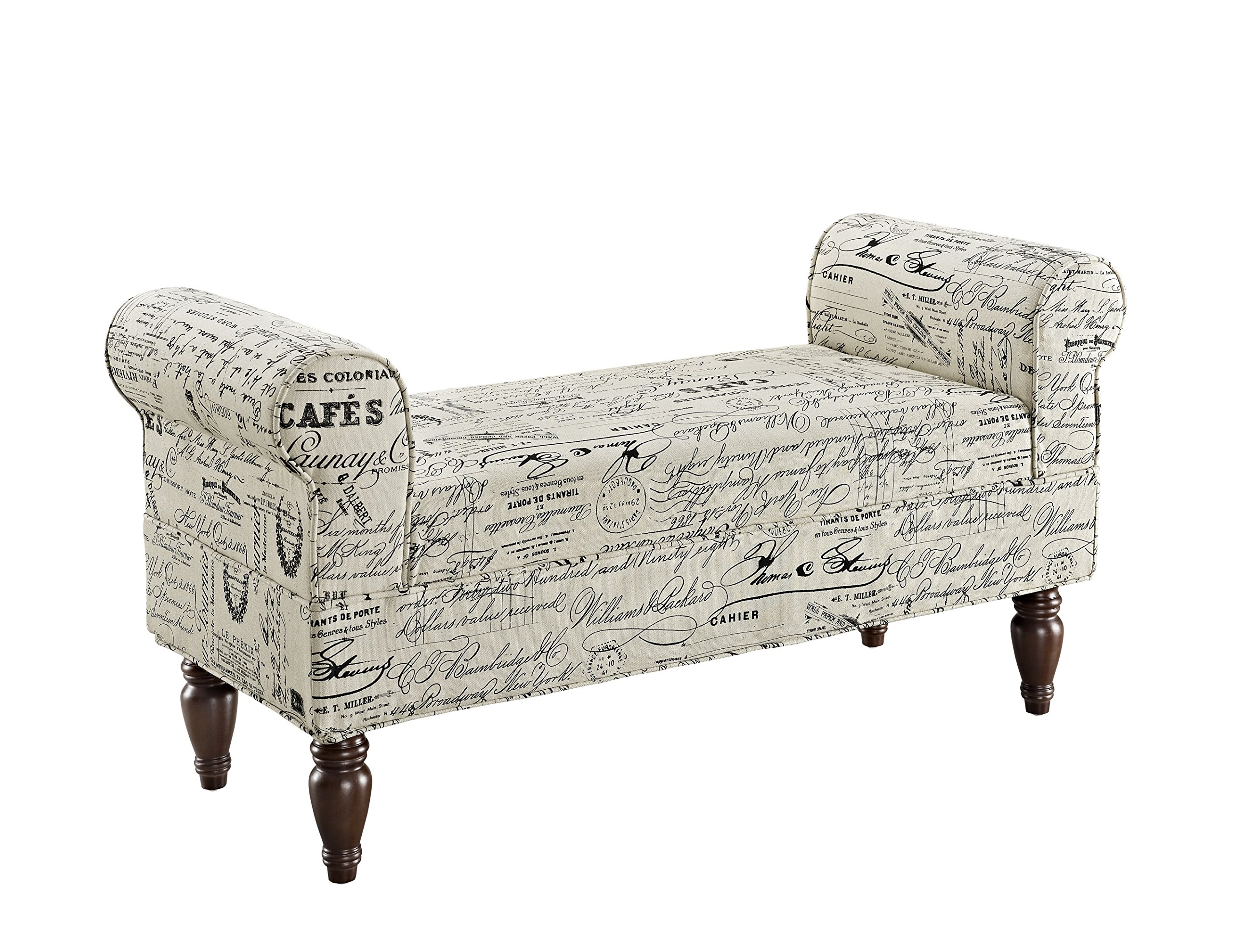 Linon Lillian Bench, Linen by Linon