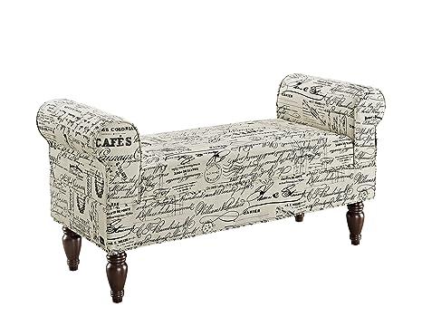 Phenomenal Linon Lillian Bench Linen Ibusinesslaw Wood Chair Design Ideas Ibusinesslaworg