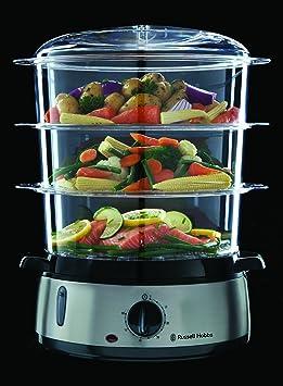 Russell 19270-56 Hobbs Cook@Home - Vaporera, 800 W, Cocina Lenta ...