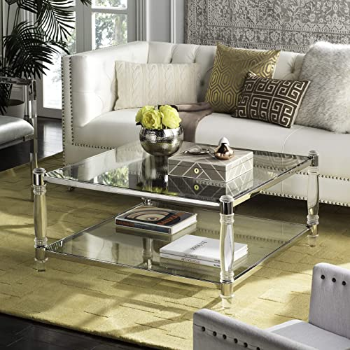 Safavieh Couture Home Isabelle Glam Silver Acrylic Coffee Table