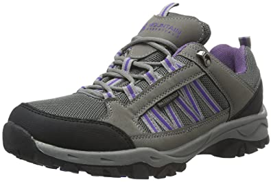 bdc820dbce86e Mountain Warehouse Path Womens Walking Shoes - Ladies Footwear Dark Grey 6  M US Women