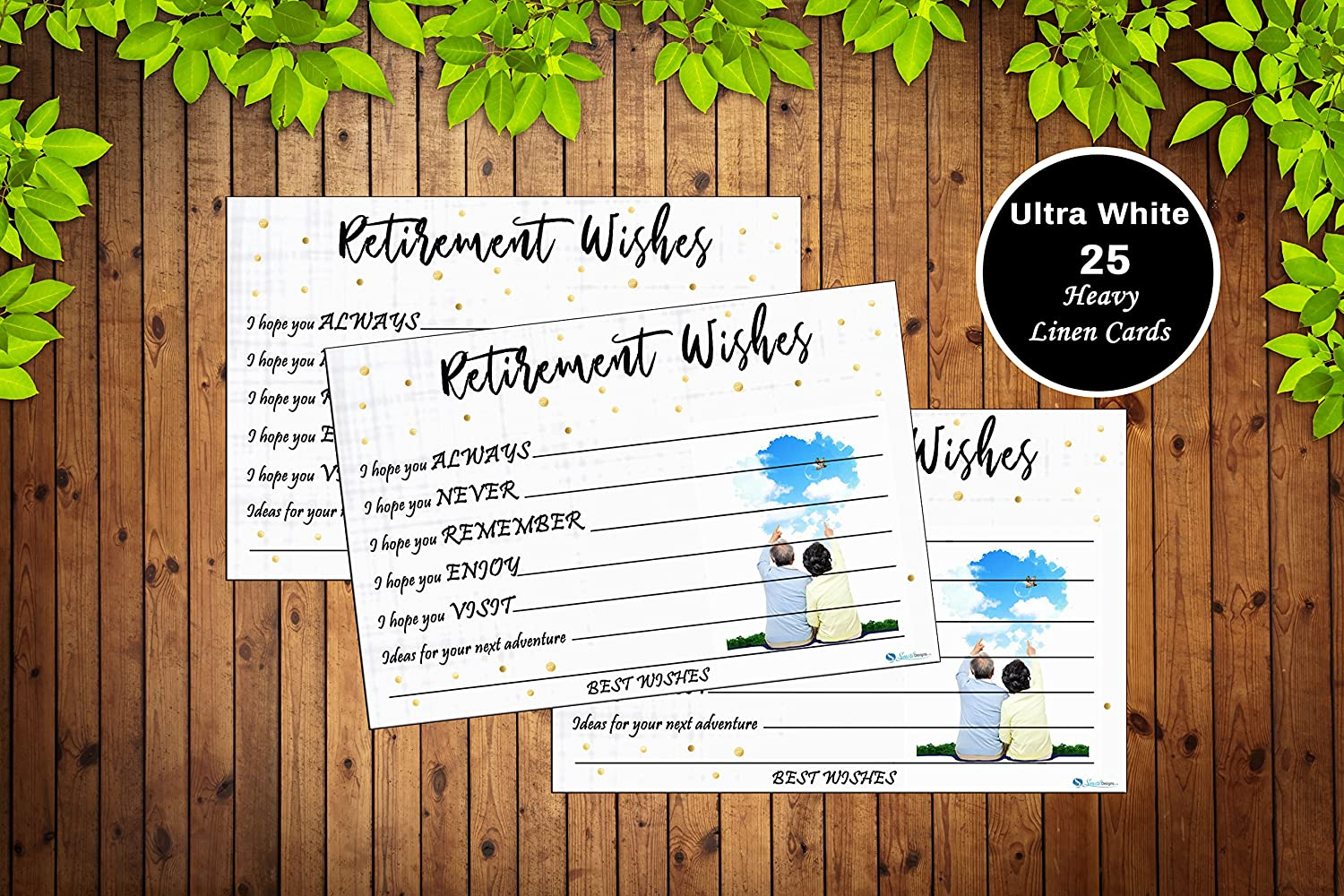 25 Retirement Party Advice Well Wish Card For Men Or Women Retired Supplies And Decorations Happy Retiree Celebration Gift Bucket List Wish Jar Funny Personalized Officially Retired Linen Card Set Amazon In Office