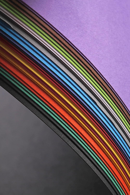 Un paquet de 28 Feuilles de papier dessin Maya 185 g 21x29,7 cm CLAIREFONTAINE 975298C 2 feuilles x 14 couleurs couleurs VIVES assorties