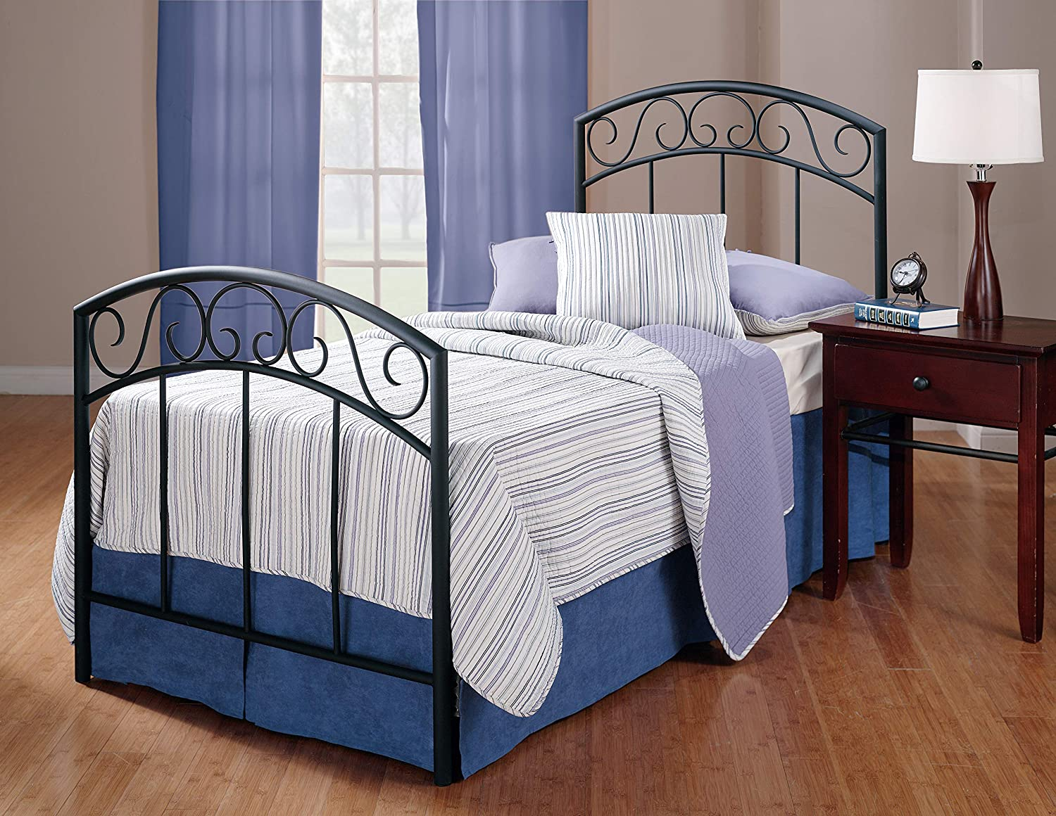 Hillsdale Furniture Wendell Bed Set with Rails, Twin, Textured Black