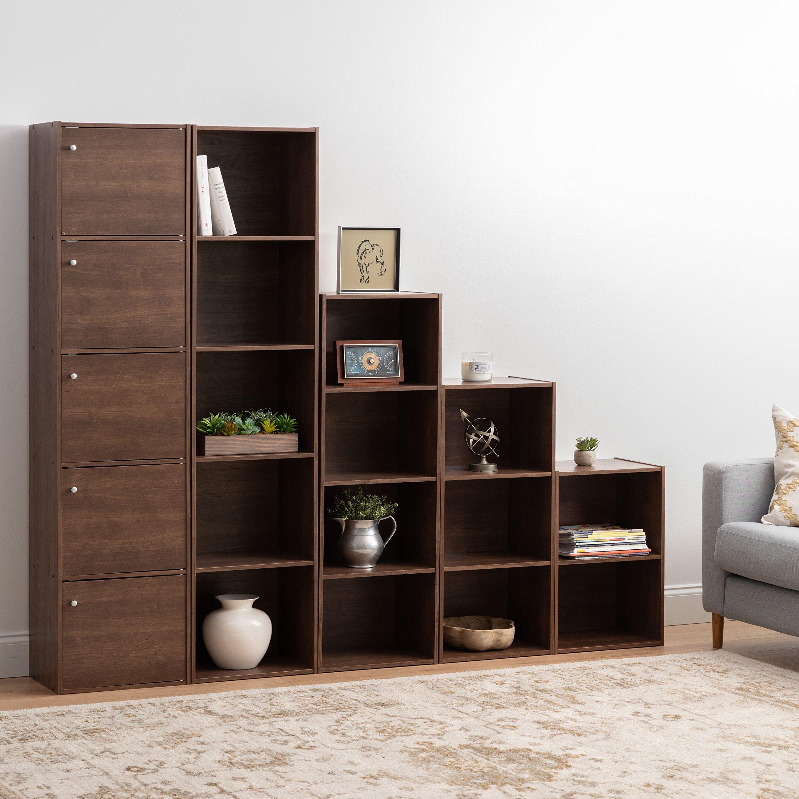 IRIS 3-Tier Basic Wood Bookcase Storage Shelf, Dark Brown by IRIS USA, Inc. (Image #5)