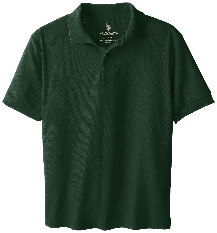 U.S. Polo Association Big Boys' School Uniform Short-Sleeve Pique Polo Shirt T76617