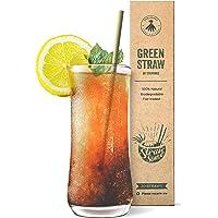 Strawmee Green Straws, natuurlijk geteelde gras rietjes, stabiel, duurzaam, biologisch afbreekbaar, herbruikbaar, het…