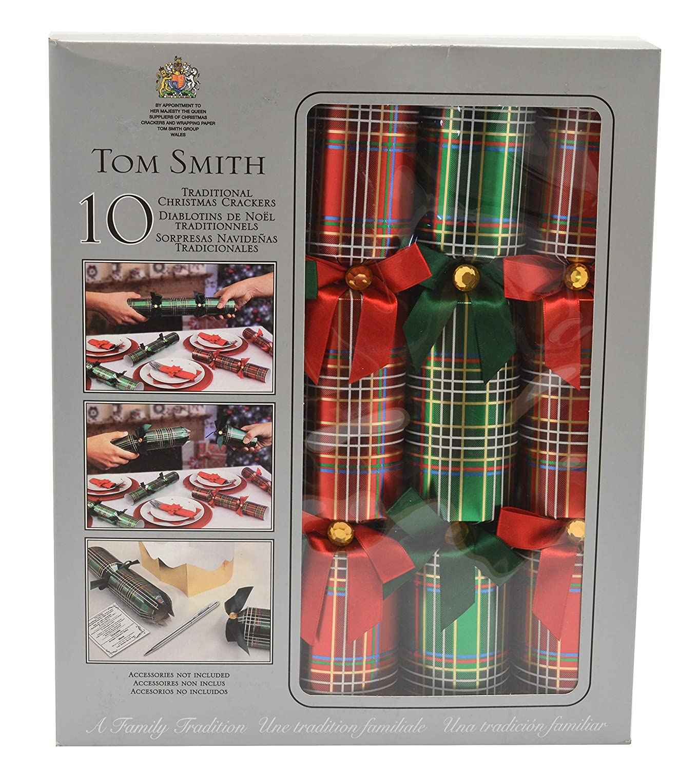 Tom Smith Traditional Christmas Crackers Pack of 10