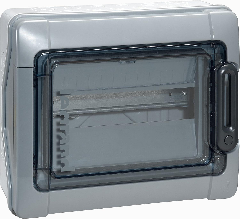 12 Modules Legrand 001921 Coffret /Étanche Plexo avec Embouts /à Perforation Directe Pr/émont/és IP65 IK09 Gris