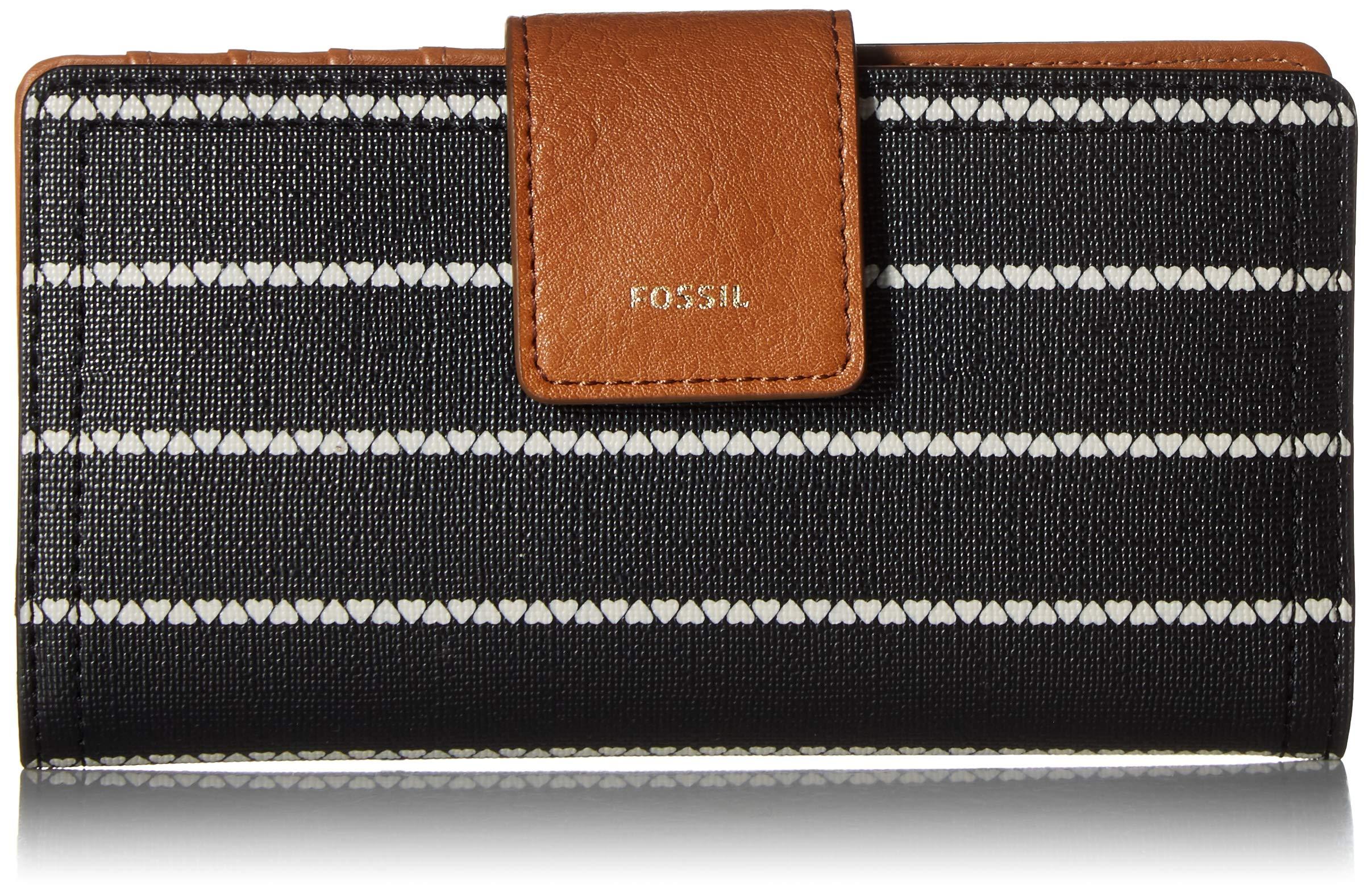 Fossil Logan RFID Tab Wallet, Black/White