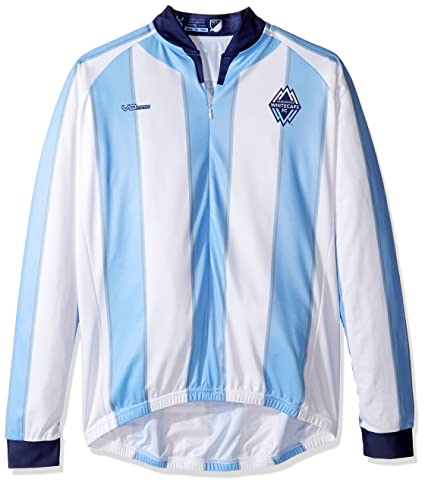 31d24a467 MLS Vancouver Whitecaps Men s Original Striped Long Sleeve Cycling Jersey