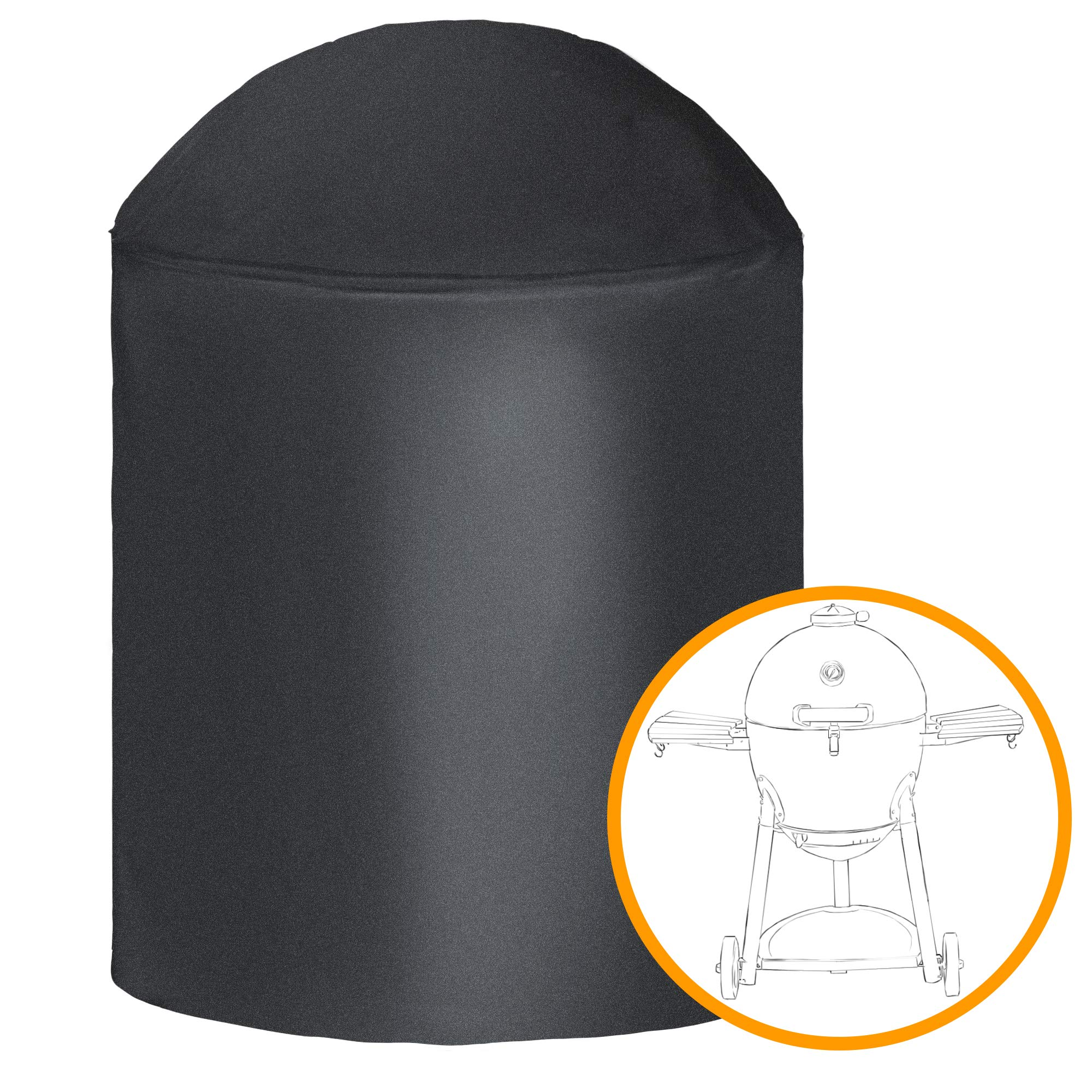 i COVER Round Grill Cover-39(Dia) x41(Tall) Water Proof Heavy Duty Outdoor Canvas BBQ Grill Cover Dome Smoker Cover Fits George Foreman Gfo3320 Gfo240 or Similar Size Grills by i COVER
