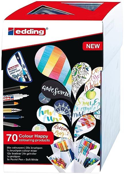 Edding 2927000 Colour Happy Big Box Set Pack Of 69 Amazoncouk