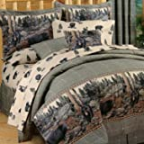 Blue Ridge Trading Unisex Bears Queen Comforter Set Black One Size