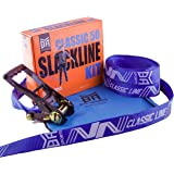 BYA Classic Line - 50ft or 85ft Beginner Slackline Kit with Carry Bag and Instructions