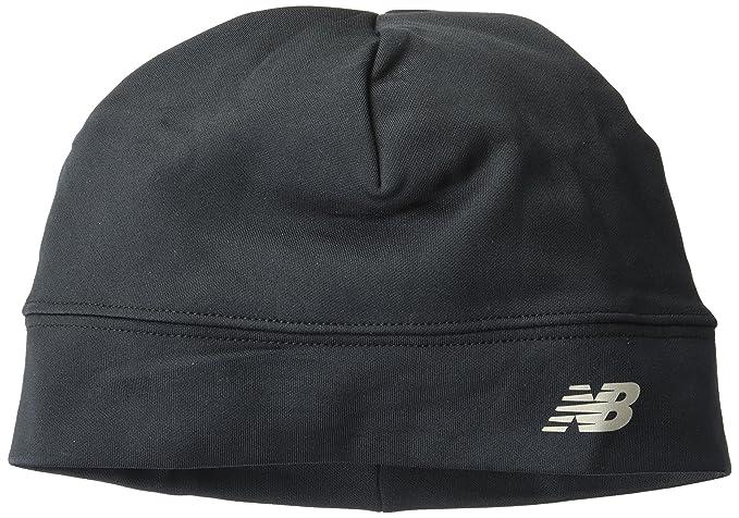 ec25ade9 Amazon.com: New Balance Unisex Fleece Beanie, Black, One Size: Clothing