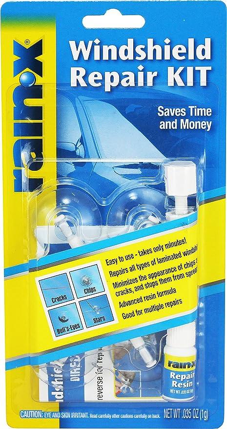 Windshield Crack Repair Kit >> Amazon Com Rain X 600001 Windshield Repair Kit Automotive