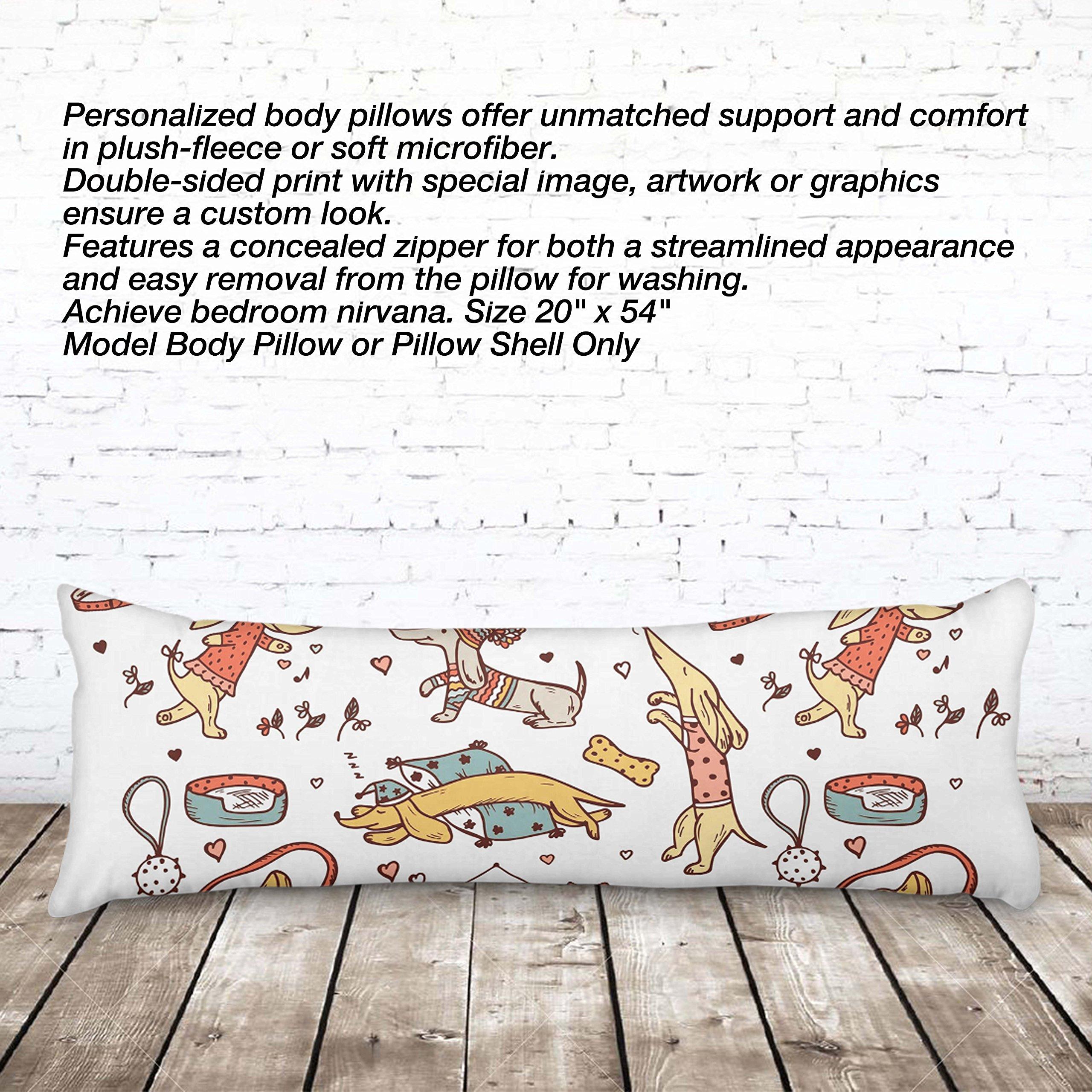 VOTANTA - Doxies Vintage Body pillows (Body Pillow 100% Microfiber, 20x54'')