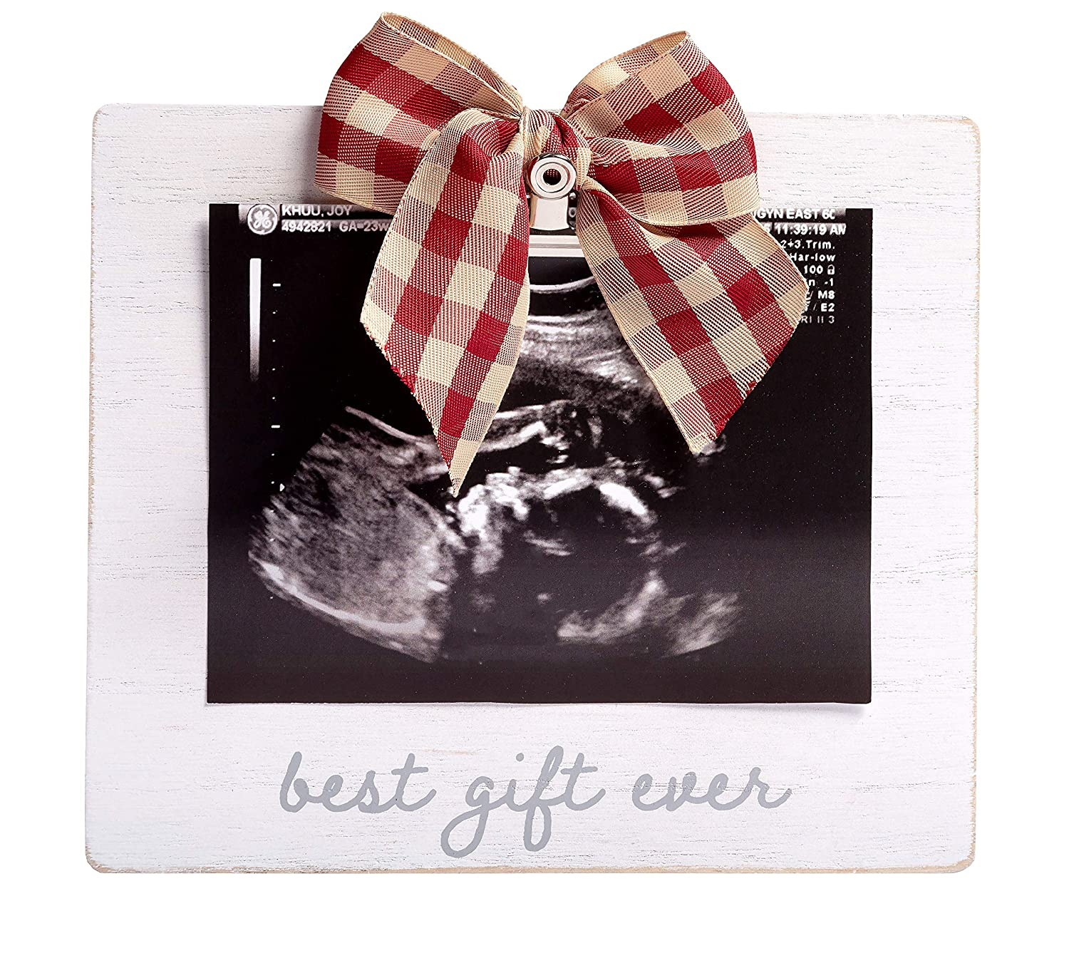 Pearhead 'Best Gift Ever' Sonogram Picture Frame, Rustic Home Décor