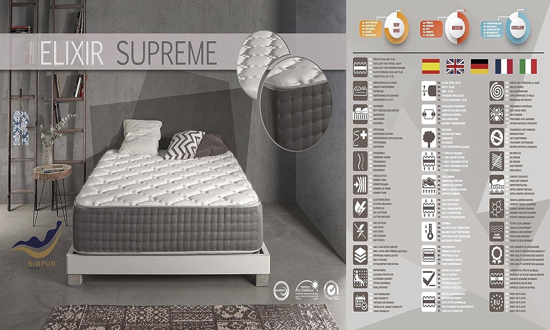 Living Sofa COLCHÓN COLCHONES VISCOELASTICO VISCOELASTICA VISCO Elixir Supreme 30CM Todas Las Medidas (90 X 200): Amazon.es: Hogar