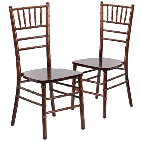 Flash Furniture 2 Pk. HERCULES Series Fruitwood Chiavari Chair
