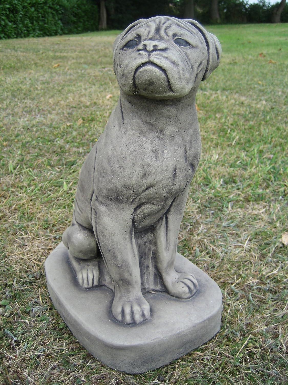 Dragonstone Boxer Dog Garden Statue Amazoncouk Garden Outdoors