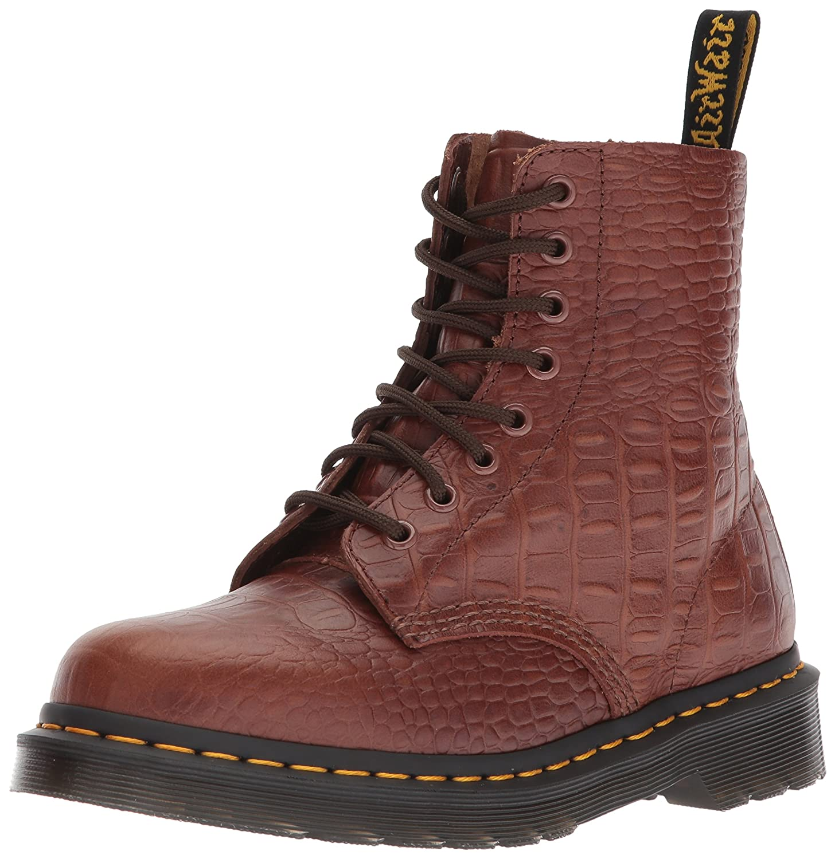 Dr. Martens Women's Pascal Croc Dark Brown Fashion Boot B071HDQ9QX 7 Medium UK (9 US)|Dark Brown