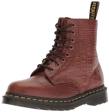 314aae5a42e040 Dr. Martens Women s Pascal Croc Dark Brown Fashion Boot 3 Medium UK (5 US