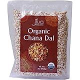 Jiva Organic Chana Dal 2 Pound Bag - Non-GMO, Premium, Certified - Split Desi Indian Chickpeas