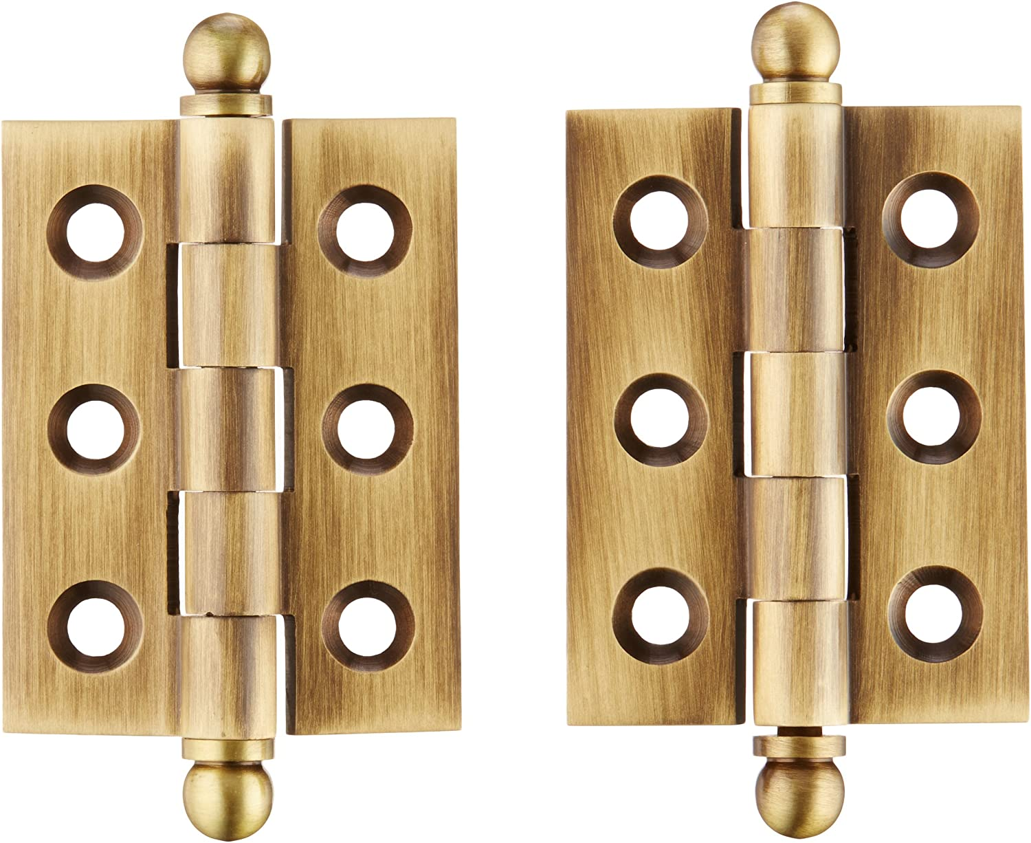 Deltana CH2015U10B Solid Brass 2-Inch x 1-1//2-Inch Cabinet Hinge with Ball Tips