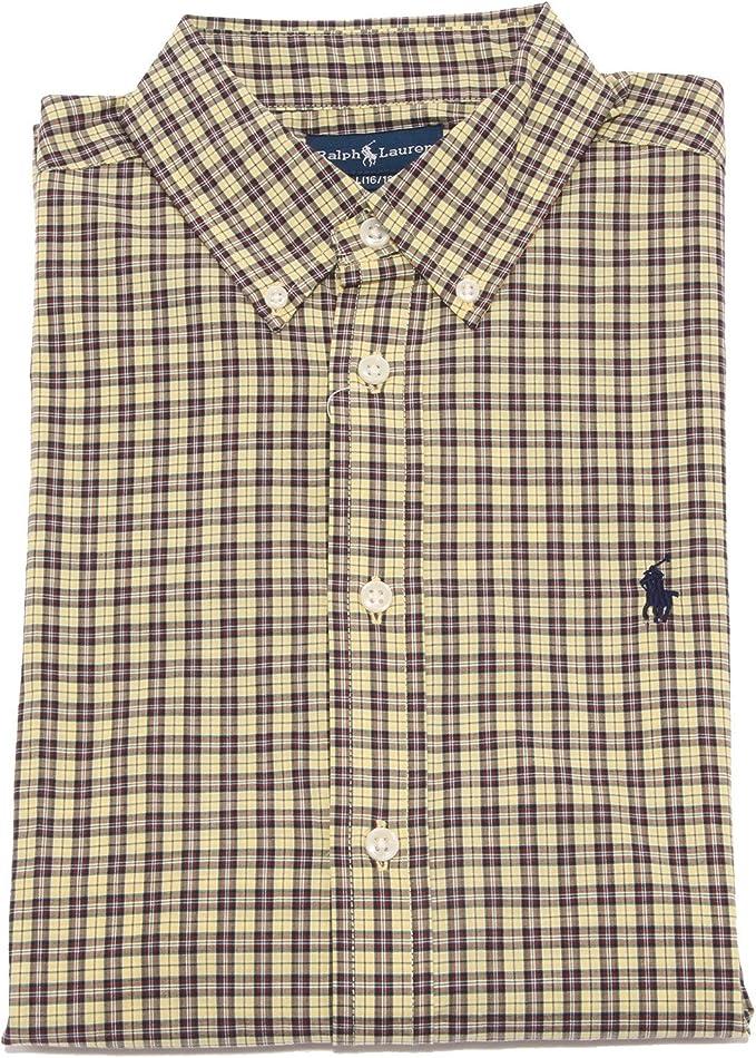 Ralph Lauren - Camisa - para niño Amarillo Large (16-18 años): Amazon.es: Ropa y accesorios