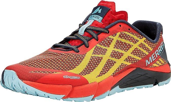Merrell Bare Access Flex Shield, Zapatillas Deportivas para Interior para Hombre, Rojo (Play Digital), 45 EU: Amazon.es: Zapatos y complementos