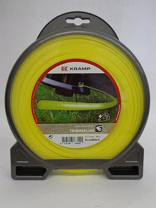 Carrete para todos los Desbrozadora Nylon Redondo Amarillo 2,4 mm ...