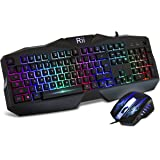Rii RM400 LED Mechanical Feeling Gaming Keyboard And Mouse Combo For Mac & PC
