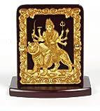 Eknoor Car Dashboard Idol- Super Carving - Maa Durga with japa mala (prayer beads)