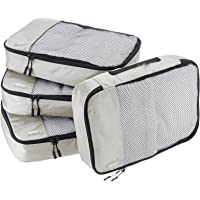 AmazonBasics 4-Piece Packing Cube Set - Medium, Gray