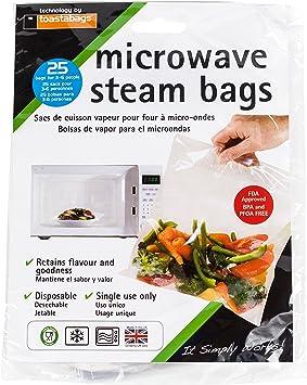 Paquete De 30 Paquete de sello simplemente Cocción Al Vapor Microondas Vapor Verduras Bolsas