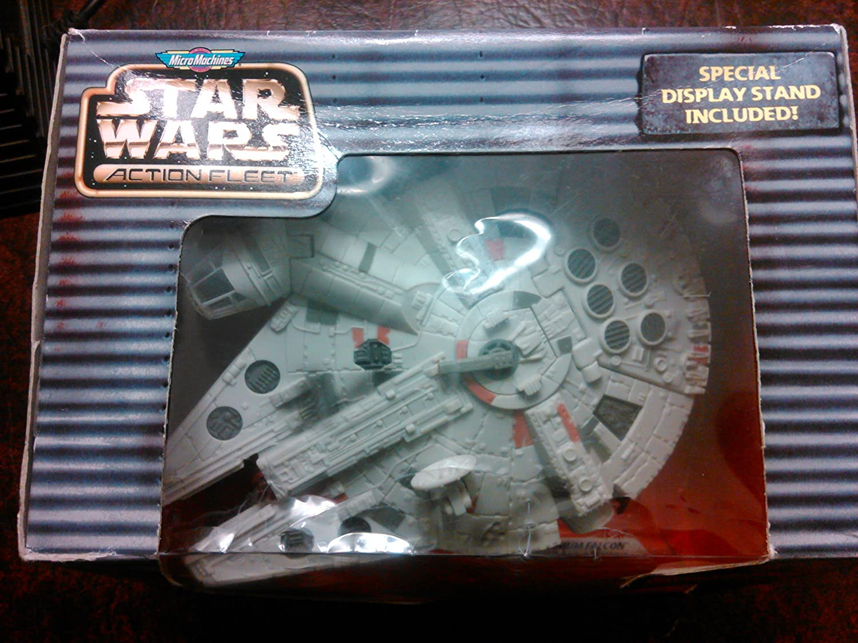 Star Wars Millennium Falcon Micro Machine Galoob White Engine No Stand