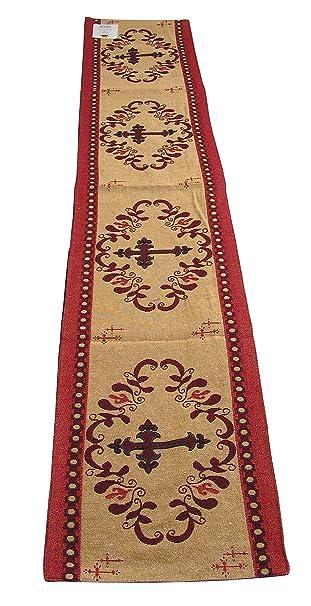 Kinara Formally Raakha Western Cross Southwestern Desert Design Table Runner Desert Reds 13x72 Inches