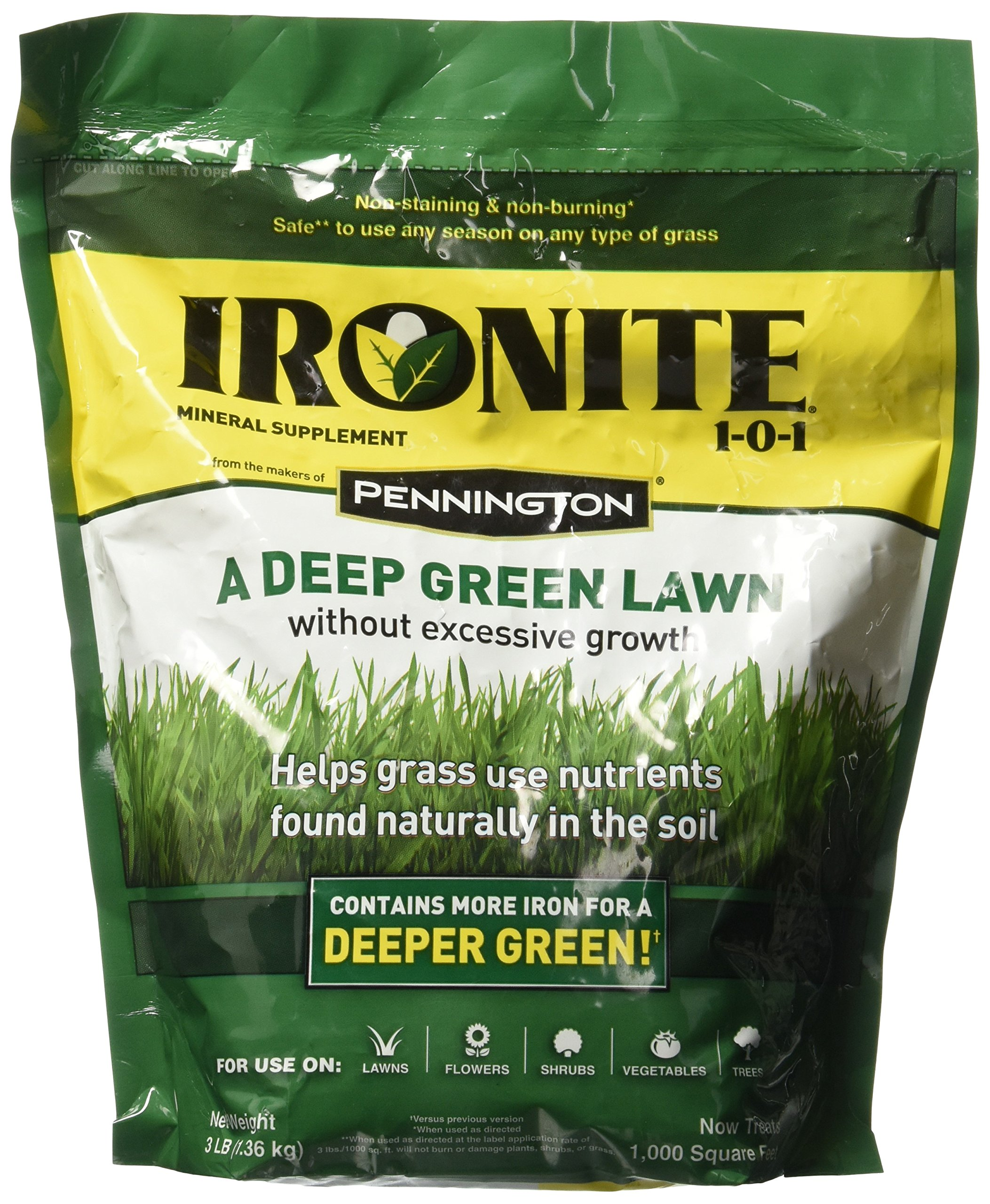 Ironite 100519429 1-0-1 Mineral Supplement/Fertilizer, 3 lb