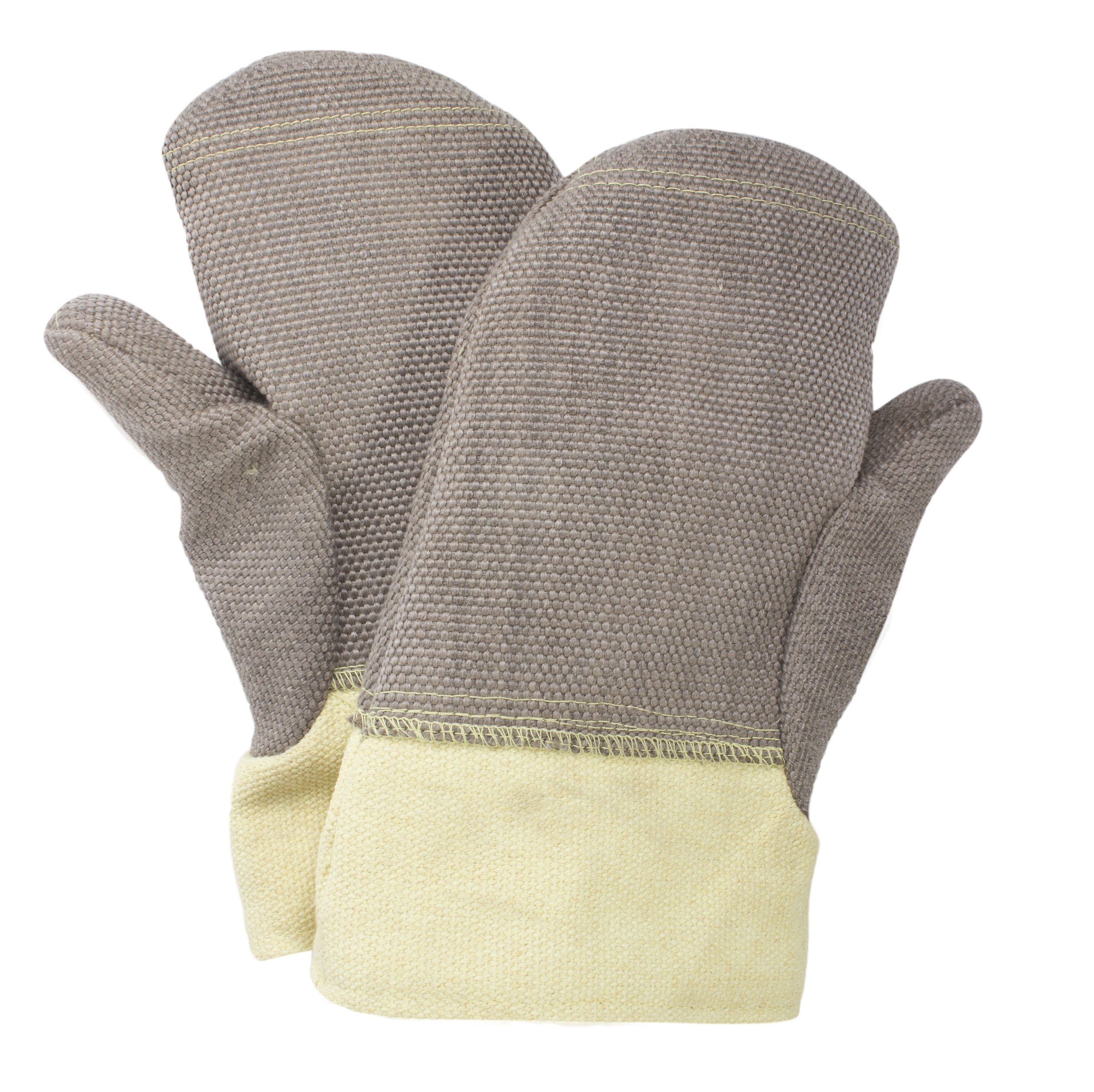 National Safety Apparel M60ZPRH01014 Zetex Plus Mitten with Thumb and Palm Patch, Jumbo, Brown