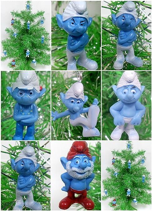 SMURFS 10 Piece Random Mini Christmas Tree Ornament Set Featuring 10 Random  Smurf Characters Around 2&quot - Amazon.com: SMURFS 10 Piece Random Mini Christmas Tree Ornament Set